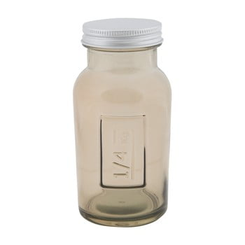 Borcan din sticlă reciclată Mauro Ferretti Coperchio, ⌀ 6,5 cm, gri