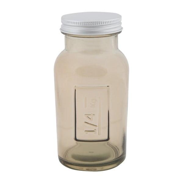 Coperchio füstszürke újrahasznosított üveg tároló edény, ⌀ 6,5 cm - Mauro Ferretti