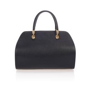 Černá kožená kabelka Massimo Castelli Tera