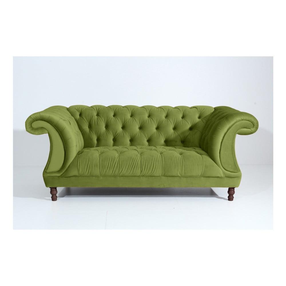 Olivově zelená dvoumístná pohovka Max Winzer Ivette