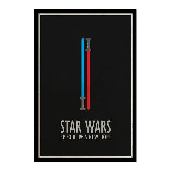 Plakát Star Wars IV, 35x30 cm