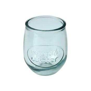 Pahar din sticlă reciclată Ego Dekor Water, 400 ml, albastru deschis imagine