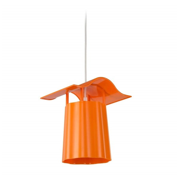 Oranžová závěsná venkovní lucerna Luciana