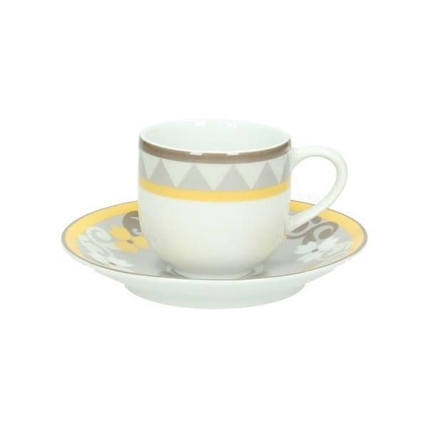 Set 6 šálků na kávu s podšálky Tognana Sfera