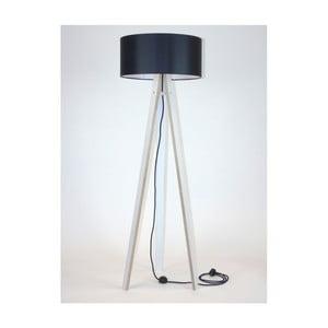 Lampadar cu abajur negru și cablu negru Ragaba Wanda, alb