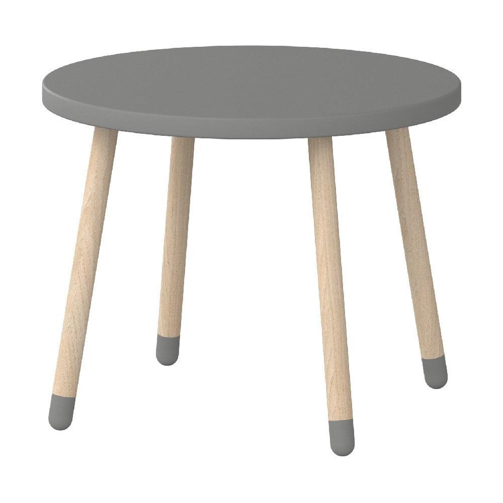 Šedý dětský stolek Flexa Dots, ø 60 cm