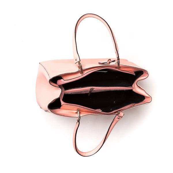 Kožená kabelka Freya, růžová