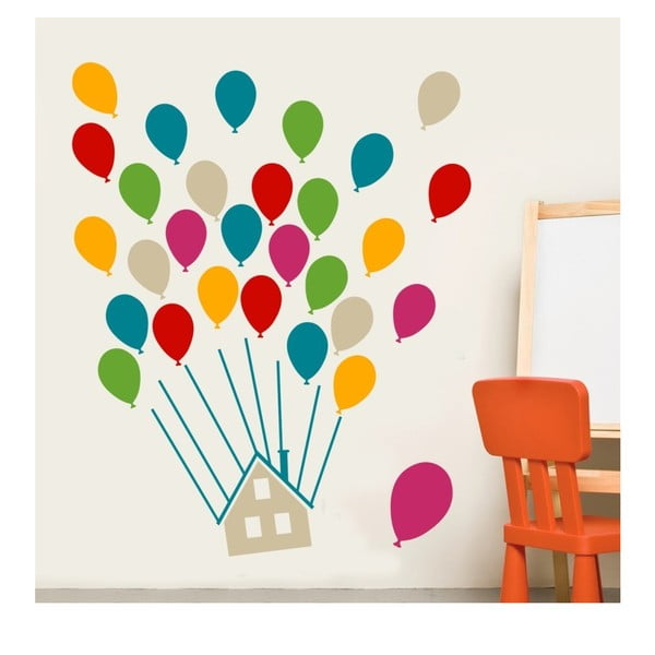 House With Balloons Multi falmatrica