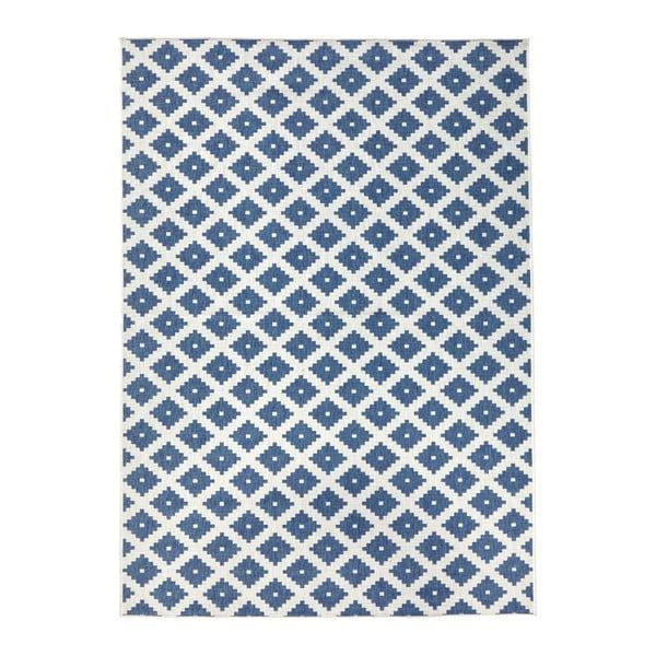 Svetlomodrý obojstranný koberec vhodný aj do exteriéru Bougari Nizza, 120 × 170 cm