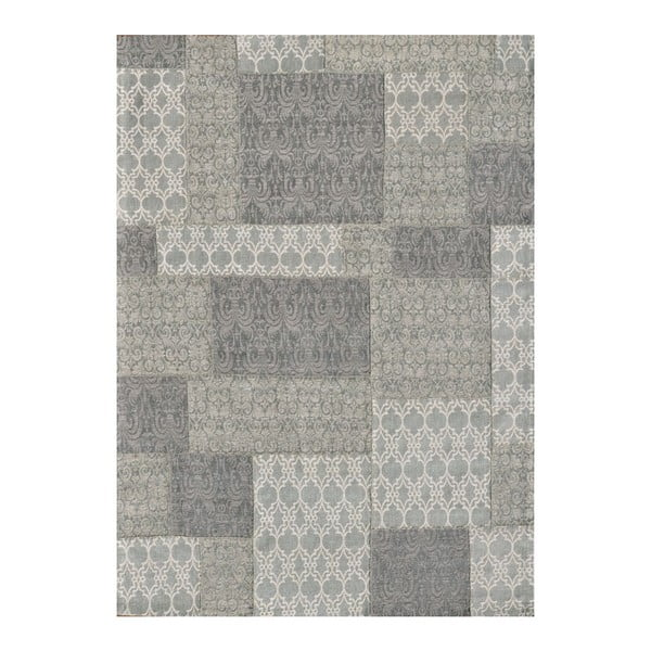 Koberec Patchwork 2 Light Grey, 62x124 cm