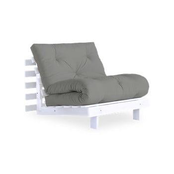 Fotoliu extensibil Karup Design Roots White/Grey