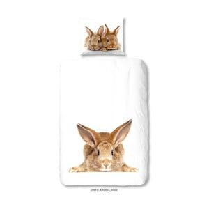 Dětské bavlněné povlečení Good Morning Rabbit, 140 x 200 cm