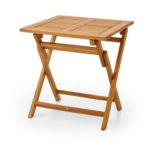 Hnědý zahradní stolek Brafab Turin, 70x70cm