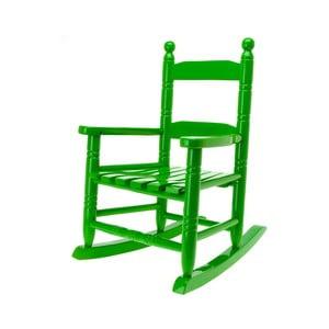 Dětská houpací židle, zelená