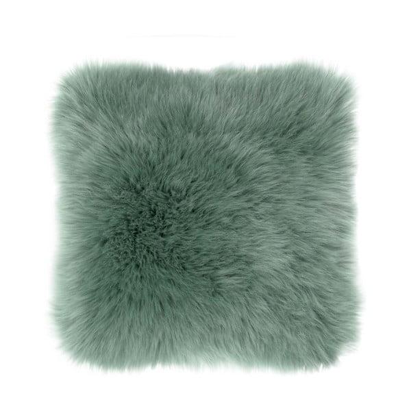 Zelený polštář Tiseco Home Studio Sheepskin, 45 x 45 cm