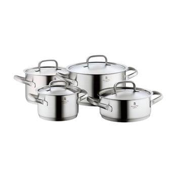 Set 4 oale din oțel inoxidabil cu capac WMF Cromargan® Gourmet Plus imagine