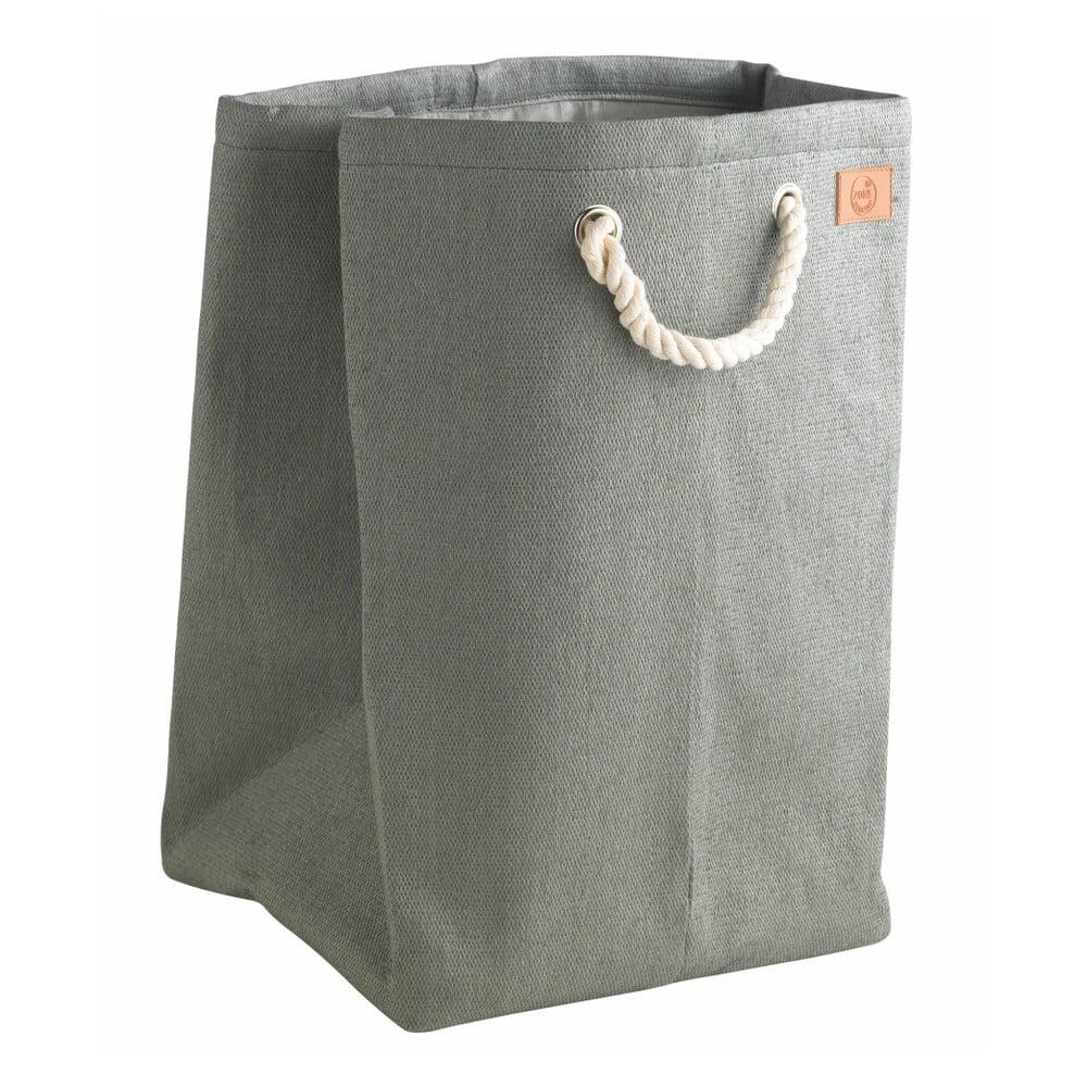 Šedý koš na prádlo Zone, 50l