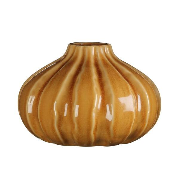 Keramická váza Marlena Ochre, 18x26 cm