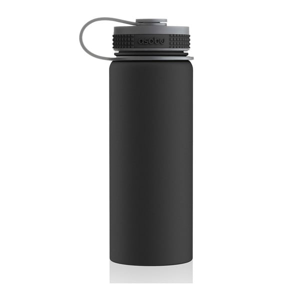 Sticlă termos Asobu Alpine Flask, 530 ml, negru
