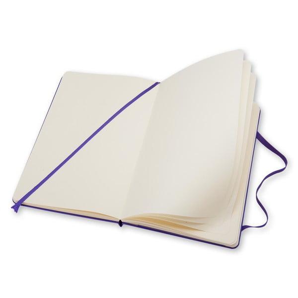 Malý fialový zápisník Moleskine Hard, bezlinek