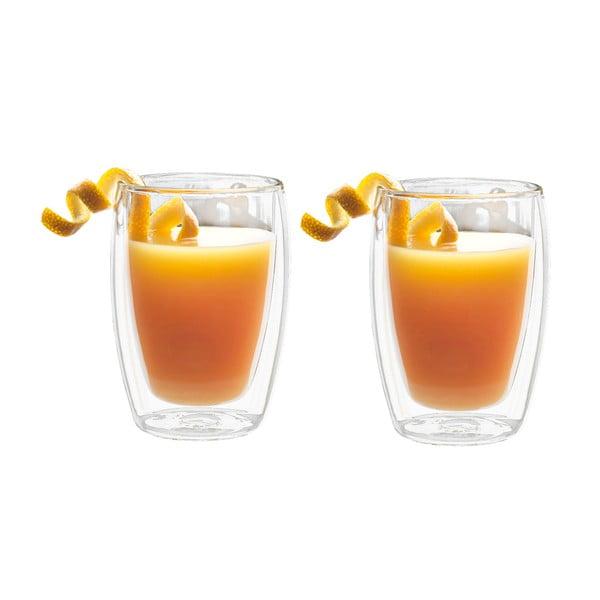 Juice 2 db duplafalú üveg pohár, 270 ml - Bredemeijer