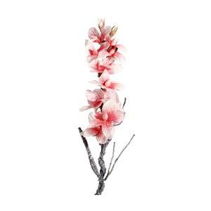 Umělá květina s růžovými květy Ixia Folami, výška122cm