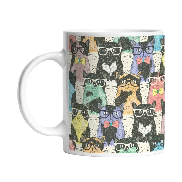 Hrnek Butter Kings Cats in Glasses, 330 ml