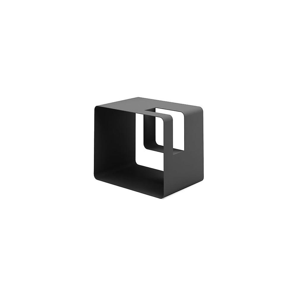 Černý stojan na časopisy MEME Design Libris