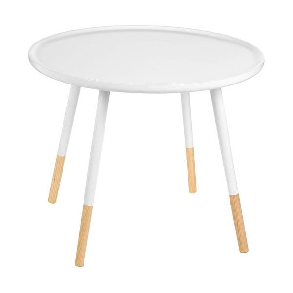 Bílý odkládací stolek Premiere Living Viborg, ⌀60 cm