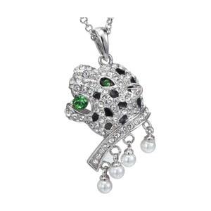 Náhrdelník se zelenými krystaly Swarovski Elements Crystals Panther