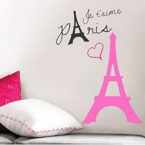 Samolepka na stěnu Růžová Francie, 60x90 cm