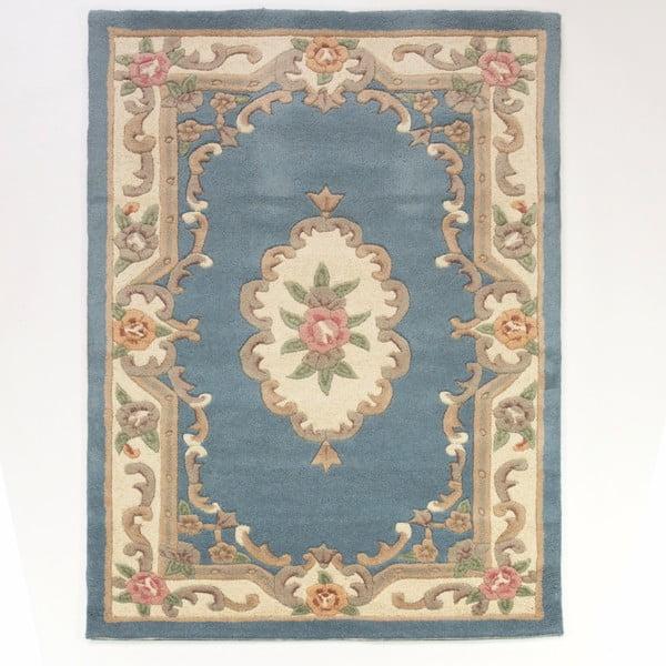 Covor din lână Flair Rugs Aubusson Blue, 75 x 150 cm