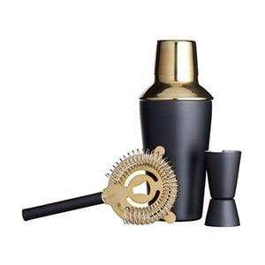 Černo-zlatý set na míchání koktejlů Kitchen Craft Luxury