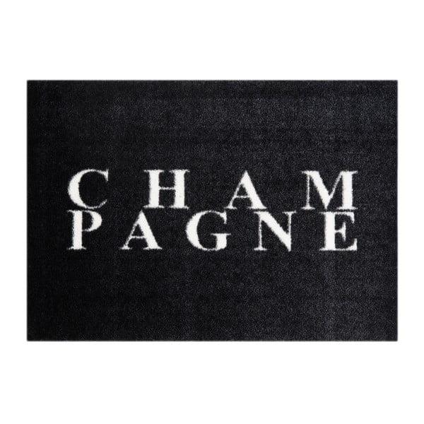 Černá rohožka Mint Rugs StateMat Champagne, 50 x 70 cm