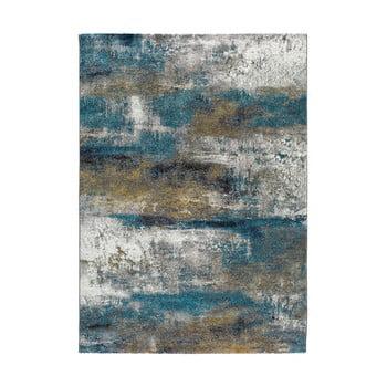 Covor Universal Kalia Abstract, 160 x 230 cm, albastru