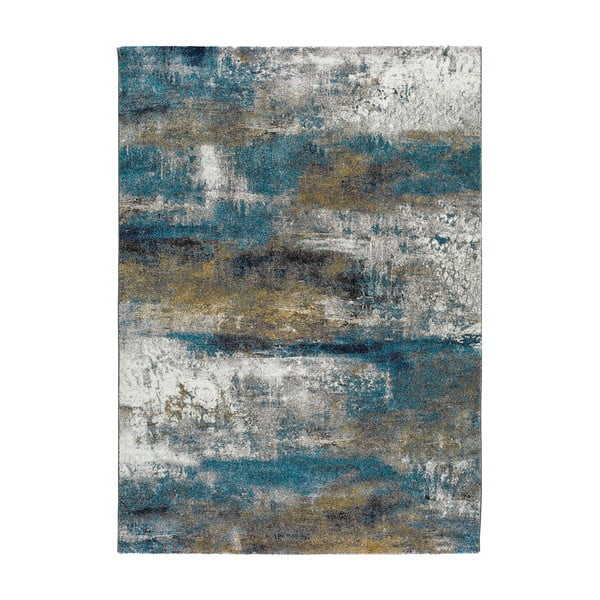Covor Universal Kalia Abstract, 120 x 170 cm, albastru