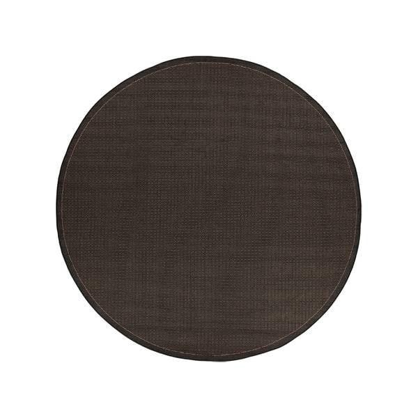 Černý venkovní koberec Floorita Tatami, ø 200 cm