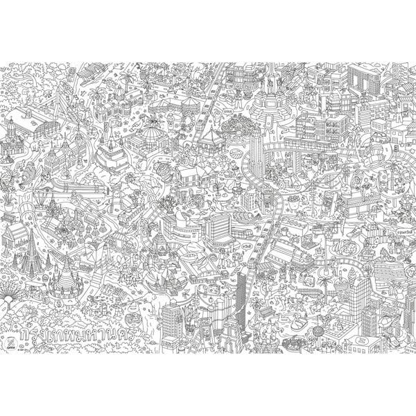 Omalovánka OMY Bangkok (70 x 100 cm)