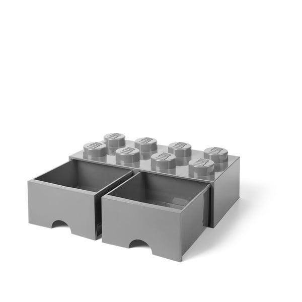 Cutie depozitare cu 2 sertare LEGO®, gri