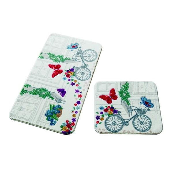 Set 2 covorașe de baie Confetti Bathmats Spilled Flowers