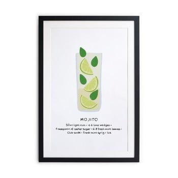 Tablou/poster înrămat Really Nice Things Mojito, 40x50cm de la Really Nice Things