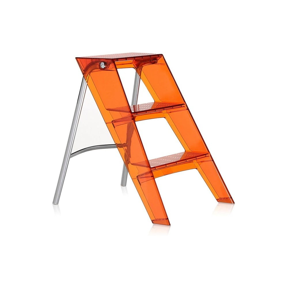Oranžové transparentní schůdky Kartell Upper