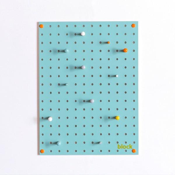 Multifunkční nástěnka Pegboard 30x40 cm, modrá
