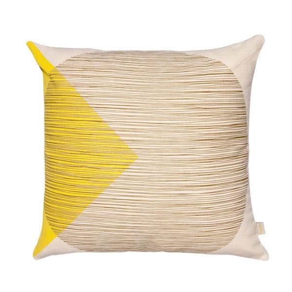 Žlutý polštář Orla Kiely OK Cushion, 45 x 45 cm