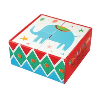 Set 4 cuburi puzzle pentru copii Rex London Big Top Circus