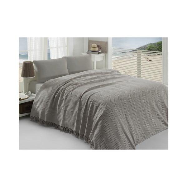 Přehoz přes postel Pique Brown, 220x240 cm