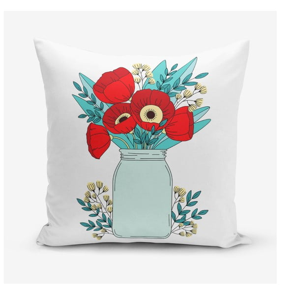 Față de pernă Minimalist Cushion Covers Flowers in Vase, 45 x 45 cm