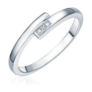 Stříbrný prsten s pravým diamantem Tess Diamonds Cornélie, vel.56cm