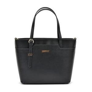 Černá kožená kabelka Mangotti Hannah Lento