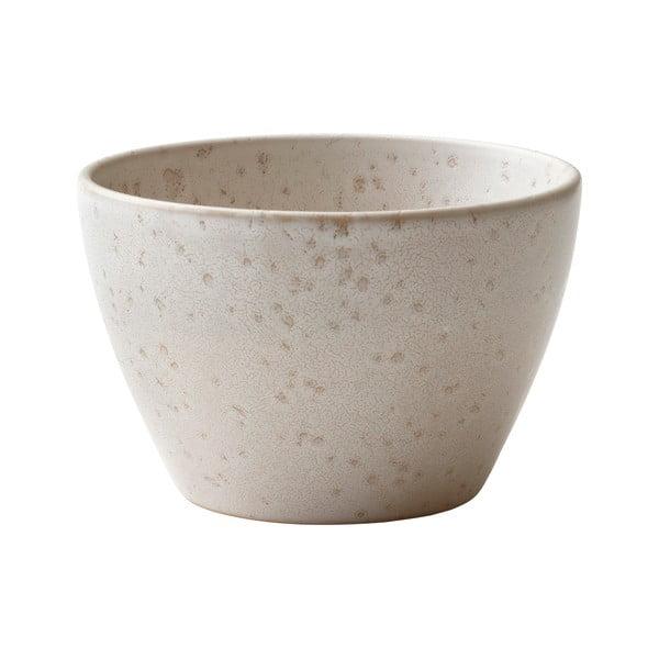 Krémová kameninová servírovací mísa Bitz Basics Matte Cream, ⌀ 18 cm